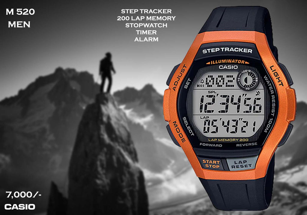 A Casio Steptracker  M 520