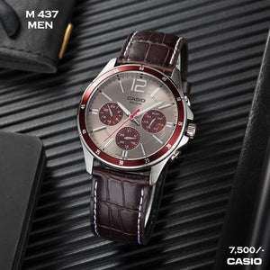 Casio Exclusive Leather Timepiece for Men M 437