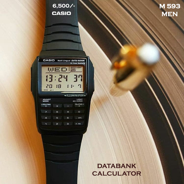 Casio Vintage with Calculator and Databank M 593