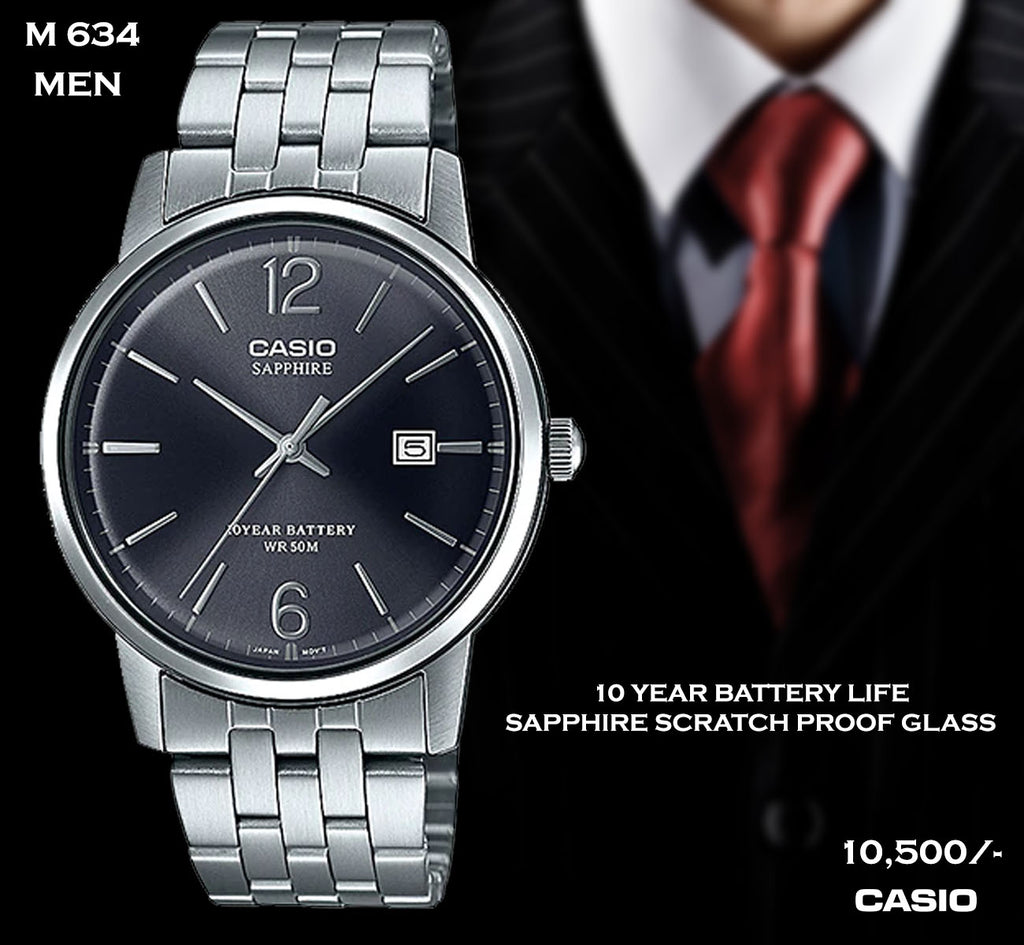 Casio Sapphire Scratch Proof Timepiece for Men M 634