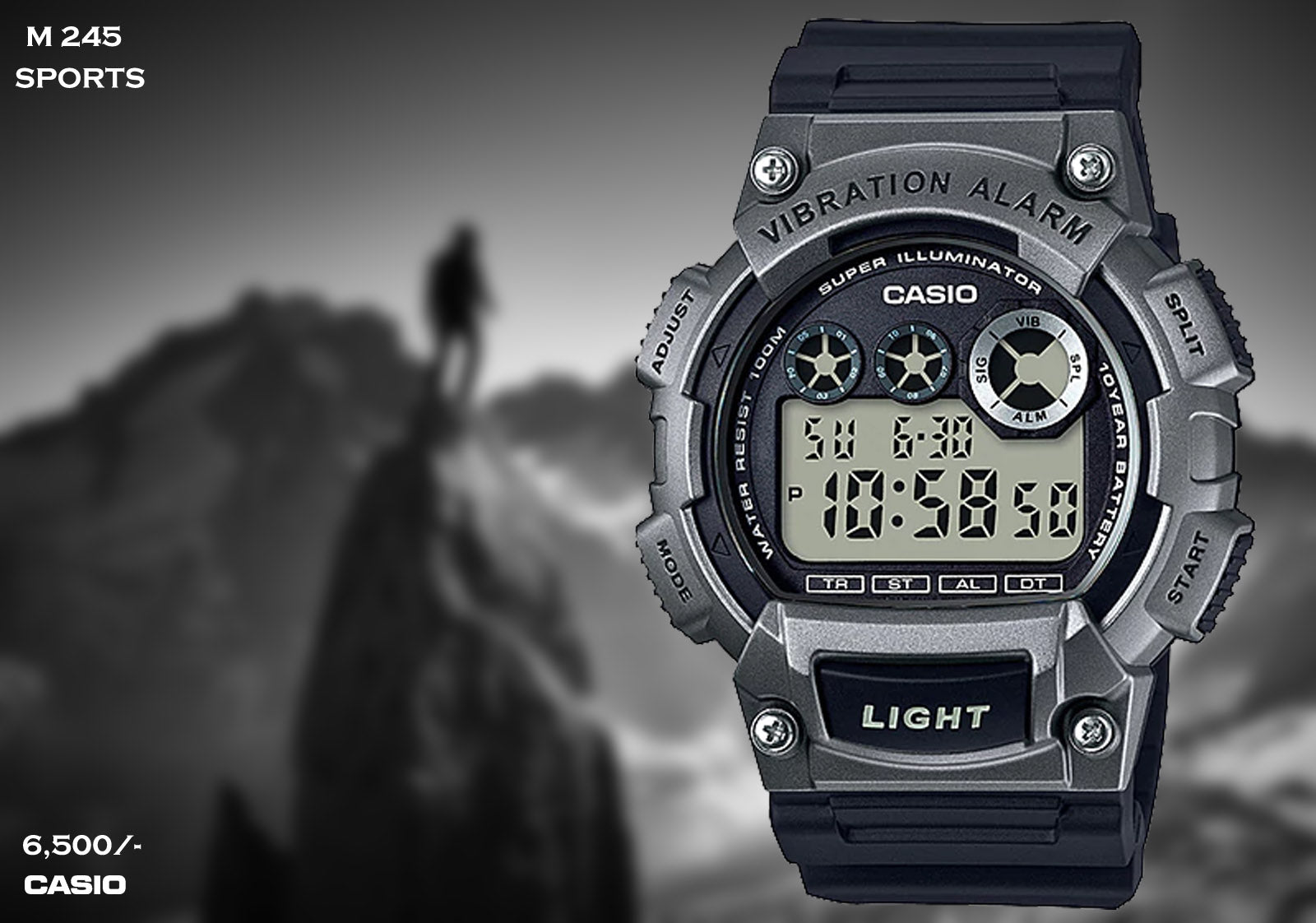 Casio Sport Digital Timepiece M 245
