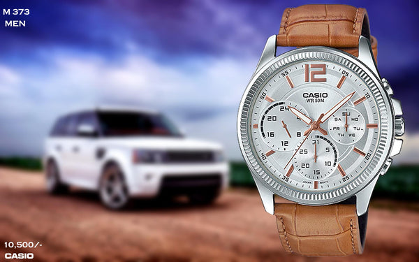 Casio Exclusive Leather Timepiece for Men M 373