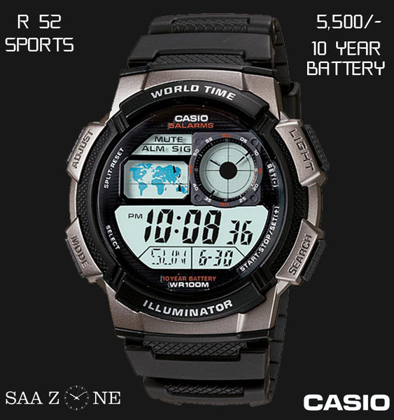 Casio Digital Timepiece R 52
