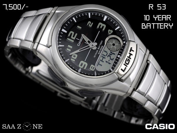 Casio Stainless Steel Belt Analogue and Digital Timepiece R 53