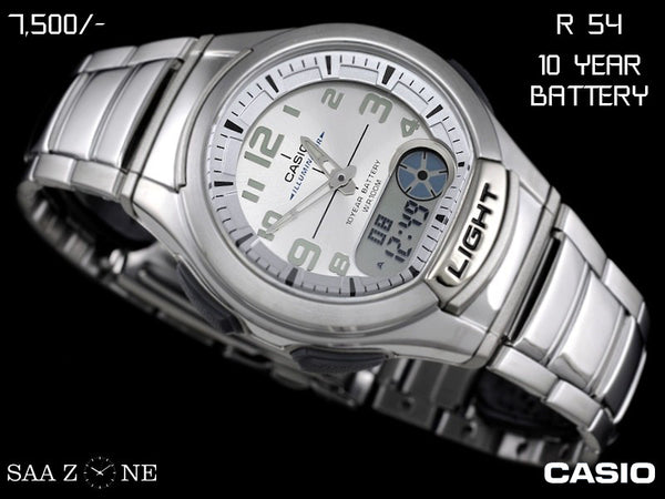 Casio Stainless Steel Belt Analogue and Digital Timepiece R 54