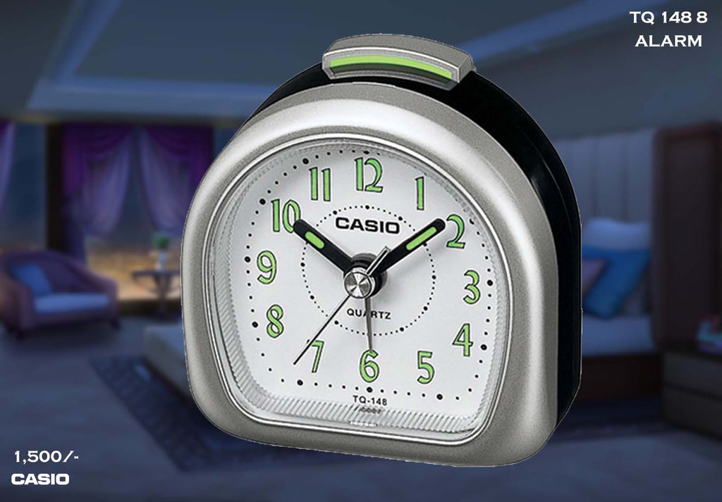 W Casio Alarm Clock TQ 148 8