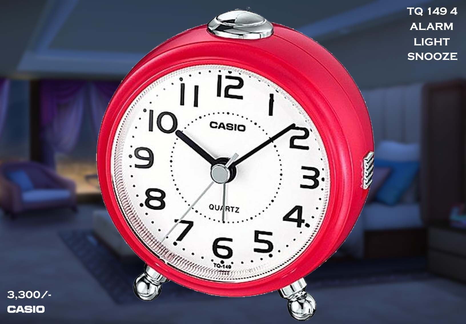 W Casio Alarm Clock TQ 149 4