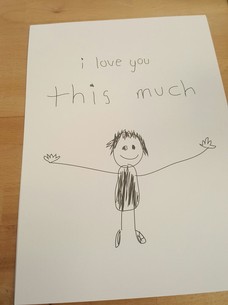 PRINT 'I LOVE YOU THIS MUCH'