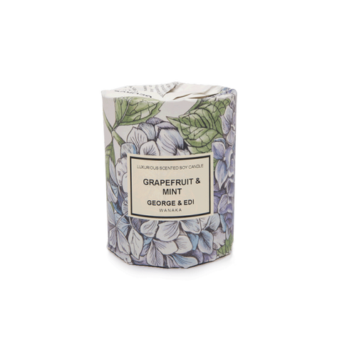 GEORGE & EDI MEDIUM CANDLE 'GRAPEFRUIT/MINT'