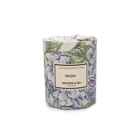 GEORGE & EDI MEDIUM CANDLE 'PEONY'