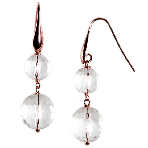 SIMPLY ITALIAN 'BRIGHT CRYSTAL DOUBLE DROP EARRINGS'