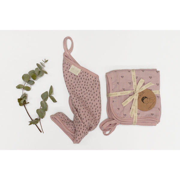 BURROW & BE WASHCLOTHS S/3 PINK