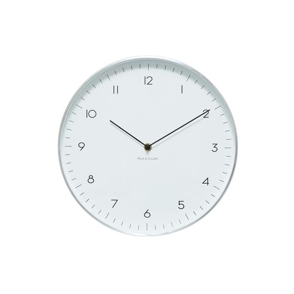 MAPLE CLOCK-SILVER
