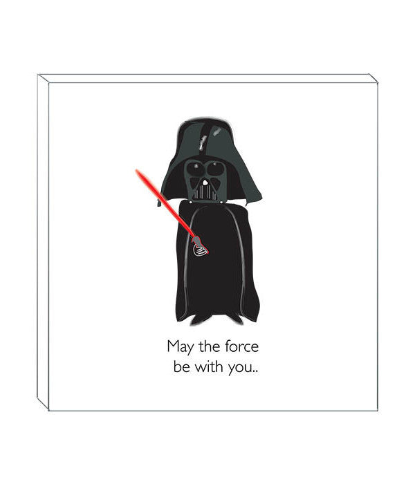 'MAY THE FORCE BE WITH  YOU' DECOR BLOCK