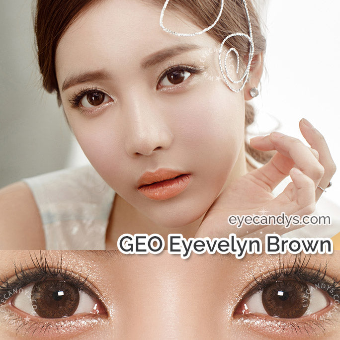 GEO Silicone Hydrogel Brown Contact Lenses