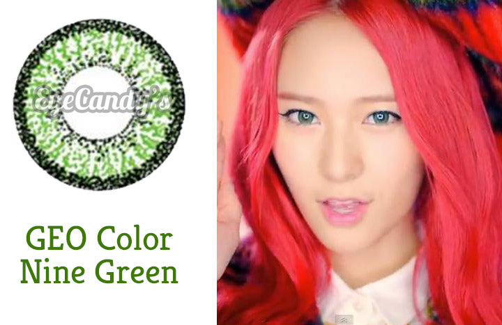 Krystal from Kpop Group F(X) wears green colored contact lenses