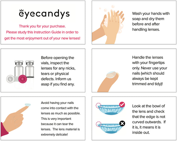 Color contact lenses instructions how to guide