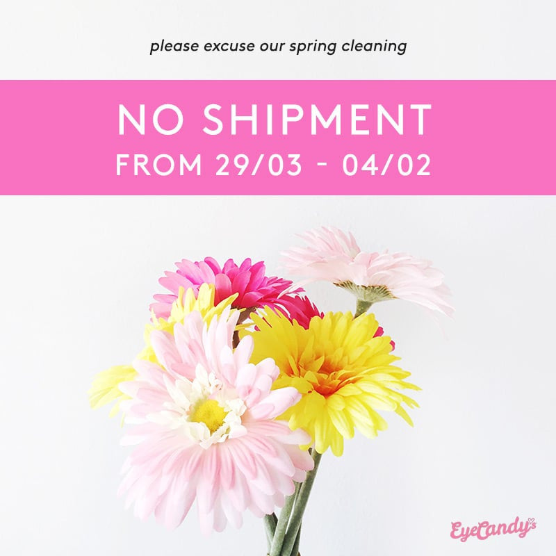 Spring Cleaning: No Shipment from 29 Mar - 4 Apr, 2017