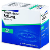 Bausch & Lomb Soflens 38 Contact Lenses (6 Pcs) 6 lenses/box - EyeCandy's