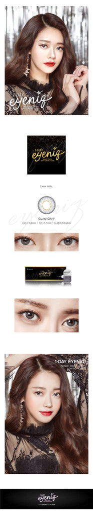 GEOLICA Eyeniq Glam Grey colored contacts circle lenses - EyeCandy's