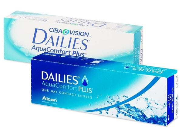 CIBA Vision Dailies Aquacomfort Plus Contact Lenses (30 Pcs) 30 lenses/box - EyeCandy's