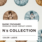 N's Collection Lassie Grey colored contacts circle lenses - EyeCandy's