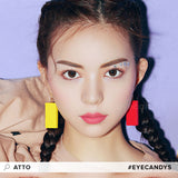 Load image into Gallery viewer, EyeCandys Pink Label Atto Choco colored contacts circle lenses - EyeCandy's