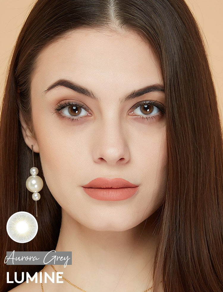 Buy Aurora Grey Color Contact Lenses | LUMINE Lens