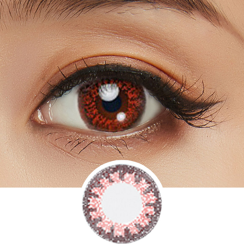 Bausch & Lomb Lacelle Colors Charming Bronze (30 Pcs) colored contact lenses - EyeCandys
