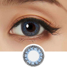 Bausch & Lomb Lacelle Colors Majestic Blue (30 Pcs) colored contacts circle lenses - EyeCandy's