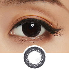 Bausch & Lomb Lacelle Dazzle Ring Shimmering Black colored contacts circle lenses - EyeCandy's