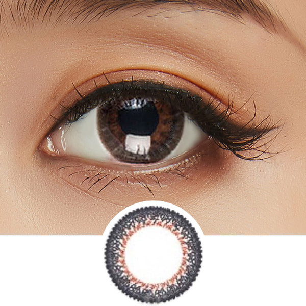 Bausch & Lomb Lacelle Dazzle Ring Twinkling Bronze colored contacts circle lenses - EyeCandy's