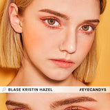 Hapa Kristin Blase Kristin Hazel colored contacts circle lenses - EyeCandy's