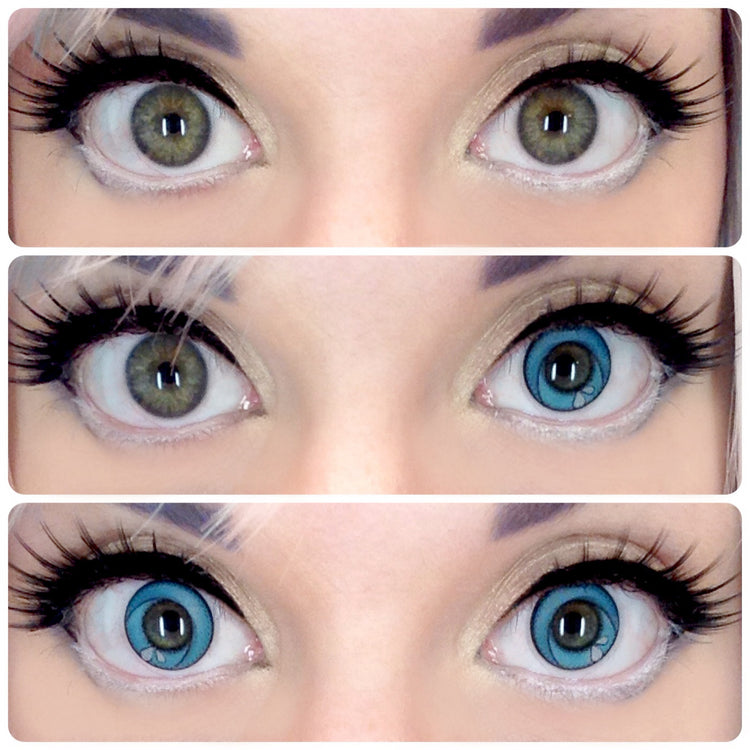 Buy GEO Animation CP-A7 Blue Halloween Contact Lenses | EyeCandys