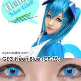 GEO Animation Neon Blue 2 lenses/box - EyeCandy's