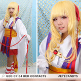 GEO Animation CR-04 Red colored contacts circle lenses - EyeCandy's