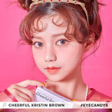 Hapa Kristin Cheerful Kristin Brown colored contacts circle lenses - EyeCandy's