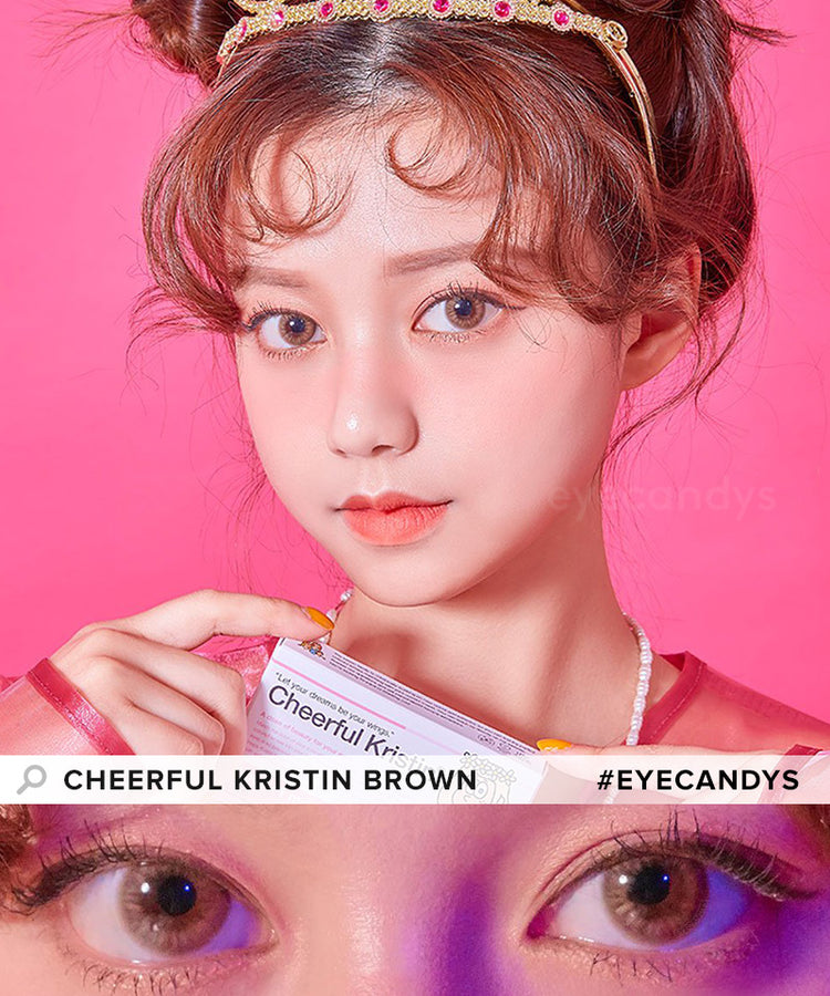Buy Hapa Kristin Cheerful Kristin Brown Coloured Contact Lens | EyeCandys