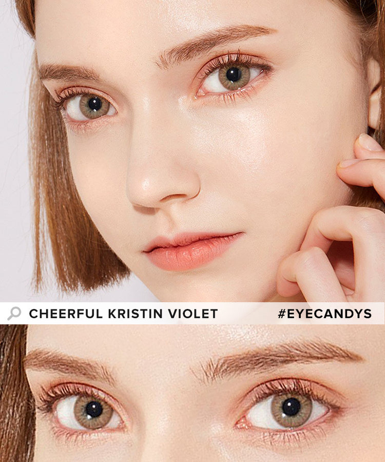 Buy Hapa Kristin Cheerful Kristin Violet Coloured Contact Lens | EyeCandys