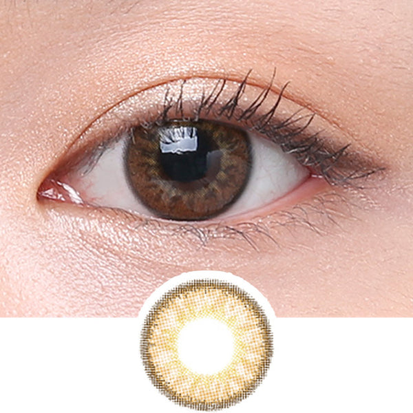 Clalen Iris M Chloe Brown colored contacts circle lenses - EyeCandy's