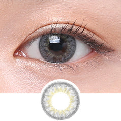 Clalen Iris M Chloe Grey colored contacts circle lenses - EyeCandy's