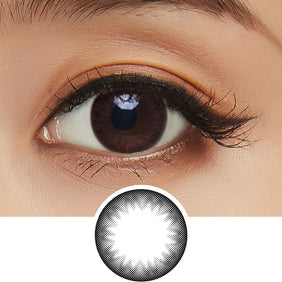 Clalen Iris Jazz Black colored contacts circle lenses - EyeCandy's