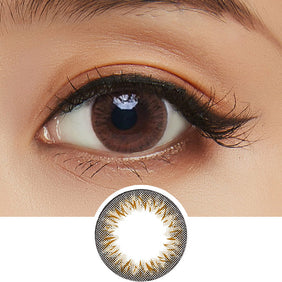 Clalen Iris Latin Brown colored contacts circle lenses - EyeCandy's