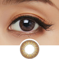 Clalen Iris M Claire Brown colored contacts circle lenses - EyeCandy's