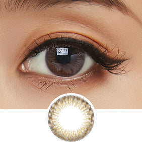 Clalen Iris M Grace Brown colored contacts circle lenses - EyeCandy's