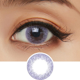 Clalen Iris M Joy Purple colored contacts circle lenses - EyeCandy's