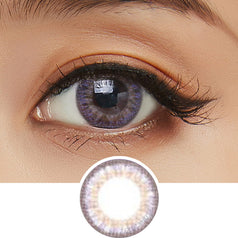 Clalen Iris M Selena Purple colored contacts circle lenses - EyeCandy's