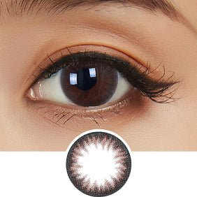 Clalen Iris Rhapsody Brown colored contact lenses - EyeCandys
