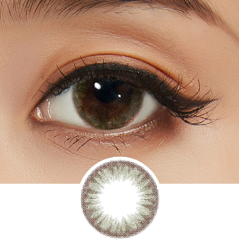 Clalen Iris Suzy Brown colored contacts circle lenses - EyeCandy's