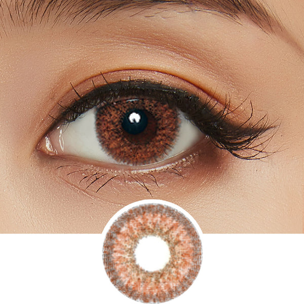 EyeCandys Pink Label Dione Choco colored contacts circle lenses - EyeCandy's